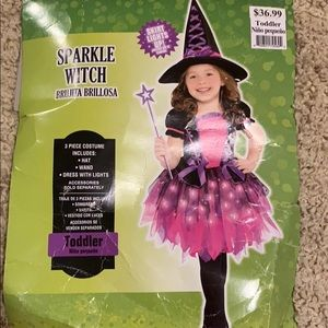 Witch costume with hat Toddler 3-4 years old